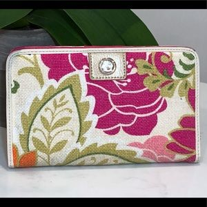 Spartina 449 natural linen wallet with leather